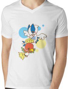 Lugia And Ho-Oh Mens V-Neck T-Shirt