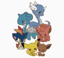 Dragonair/Lapras/Vulpix/Eevee/Pikachu/Quilava by Daanrekers