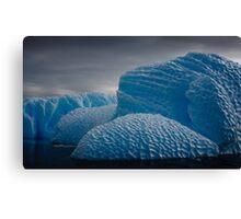 Heavily Patterned Iceberg Antarctica Canvas Print