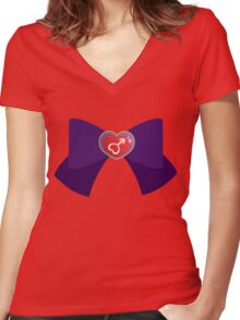 Mars Bow Women's Fitted V-Neck T-Shirt
