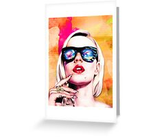Iggy Azalea- Orange/Pink Greeting Card
