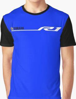 Yamaha R1 Design White Graphic T-Shirt