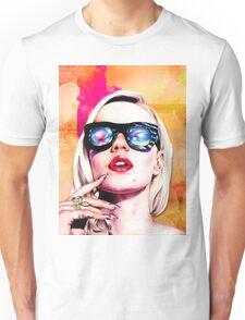 Iggy Azalea- Orange/Pink Unisex T-Shirt