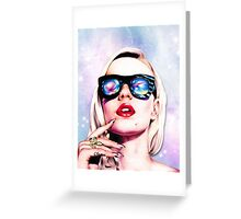 Iggy Azalea- Pink/Purple Greeting Card