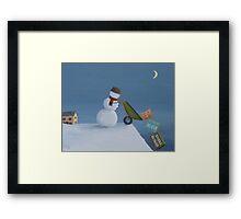 Snowman Survival Stragtegies Framed Print