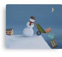 Snowman Survival Stragtegies Canvas Print