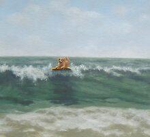 Surfing Golden by PhyllisGAndrews