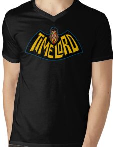 Time Lord Logo Mens V-Neck T-Shirt