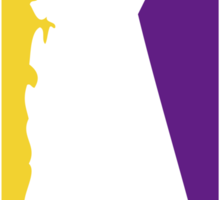 California Logo Purple and yellow Sticker