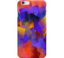 Building with blocks of a rainbow iPhone Case/Skin
