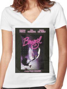 Brazil, Terry Gilliam Women's Fitted V-Neck T-Shirt
