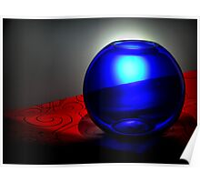 A Blue Sphere Poster
