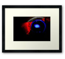 A Blue Sphere Framed Print
