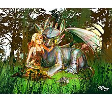 Game of Thrones + How to Train Your Dragon Dany + Toothless Photographic Print