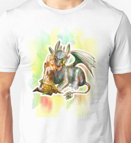 Game of Thrones + How to Train Your Dragon Dany + Toothless Unisex T-Shirt