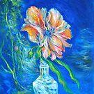 Flower Against Blue by Barbara Sparhawk