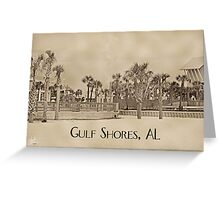 Boardwalk at Gulf Shores Greeting Card