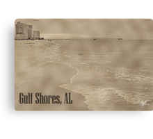 Ocean View of Gulf Shores Canvas Print