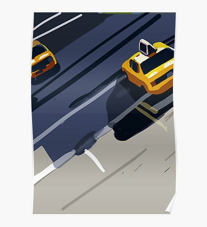 Taxis No. 1 from the Migration Series Poster
