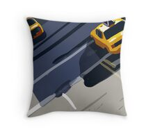 Taxis No. 1 from the Migration Series Throw Pillow