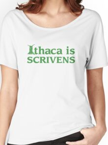 Ithaca Ivy League (GREEN TEXT) Women's Relaxed Fit T-Shirt