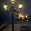 Through the mist in Venice by Jai Honeybrook