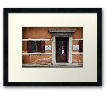 Venice building front Framed Print