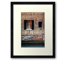 Building decay in Venice Framed Print