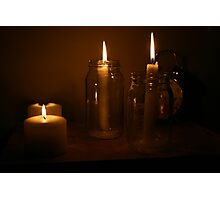 Candle Congregation Photographic Print