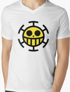 Heart Pirates Logo (Yellow Center) Mens V-Neck T-Shirt