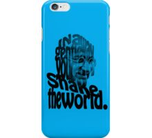 Gently Shake the World - Blue Cases iPhone Case/Skin