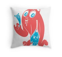ink stain on my heart - color Throw Pillow