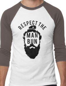 Respect the Man Bun Men's Baseball ¾ T-Shirt