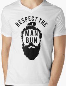 Respect the Man Bun Mens V-Neck T-Shirt