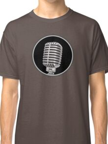 Vintage Gray Microphone Sign Classic T-Shirt