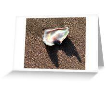 Treasure on the sand Greeting Card
