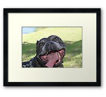 I will find you and LICK your screen! Framed Print