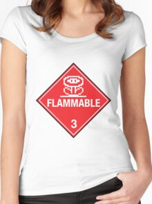 Flower Power Flammable Placard Women's Fitted Scoop T-Shirt