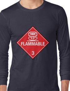 Flower Power Flammable Placard Long Sleeve T-Shirt