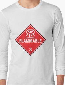Flower Power Flammable Placard Long Sleeve T-Shirt