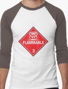 Flower Power Flammable Placard Men's Baseball ¾ T-Shirt
