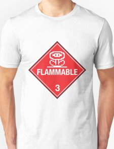 Flower Power Flammable Placard Unisex T-Shirt