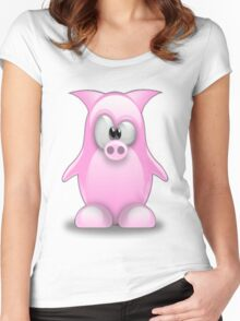 Piggy tux Women's Fitted Scoop T-Shirt