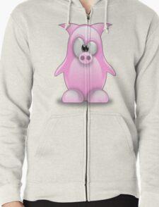 Piggy tux Zipped Hoodie