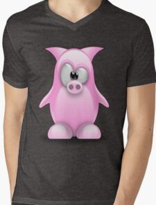 Piggy tux Mens V-Neck T-Shirt