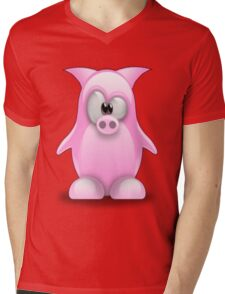 Piggy tux Mens V-Neck T-Shirt