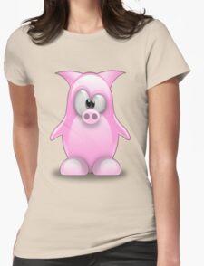 Piggy tux Womens Fitted T-Shirt
