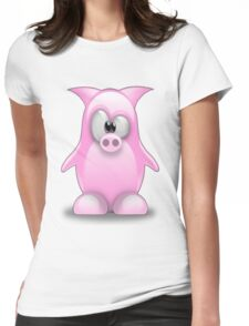 Piggy tux Womens Fitted T-Shirt