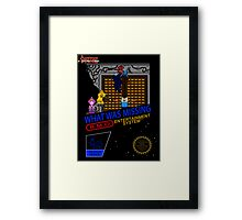 NINTENDO: NES ADVENTURE TIME  Framed Print
