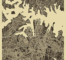 SYDNEY AUSTRALIA MAP by JazzberryBlue